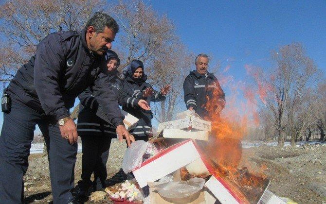 Erciş Belediyesi'nden Gıda İmhası