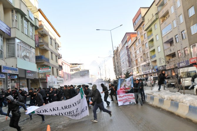 Hakkari'de yürüyüş yapmak isteyen göstericilere müdahale