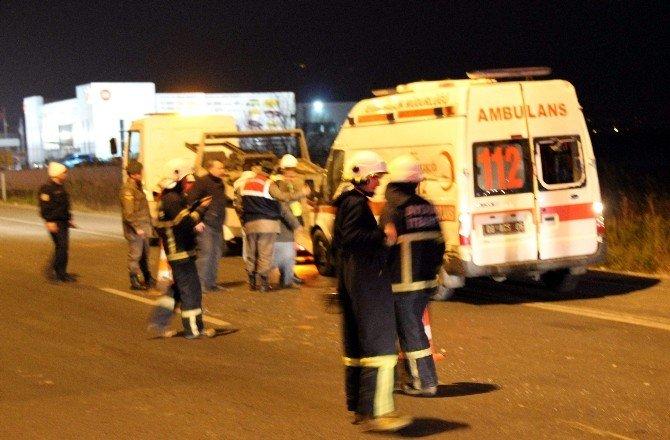Hasta Taşıyan Ambulans Takla Attı: 5 Yaralı