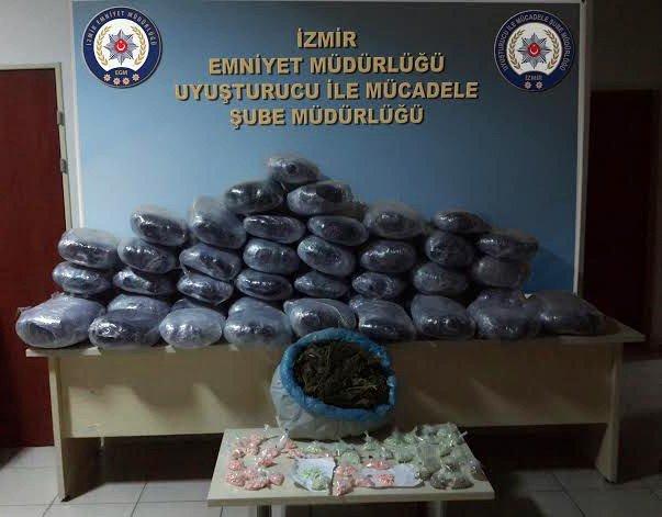 İzmir Polisi Uyuşturucu Tacirlerine Göz Açtırmadı