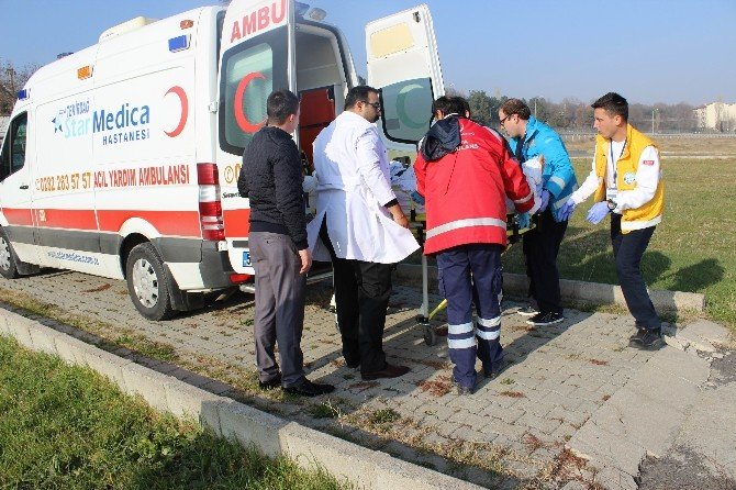 Gökçeada'dan Helikopter Ambulansla Acil Hasta Nakli