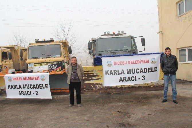 İncesu Belediyesi Kar Teyakkuzunda