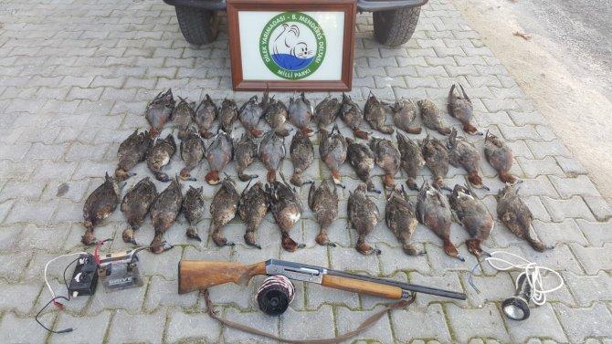 Kaçak avcılara toplam 25 bin lira ceza kesildi