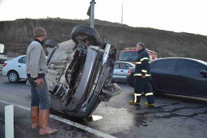Trafik Kazasında İmamla Müezzin Yaralandı