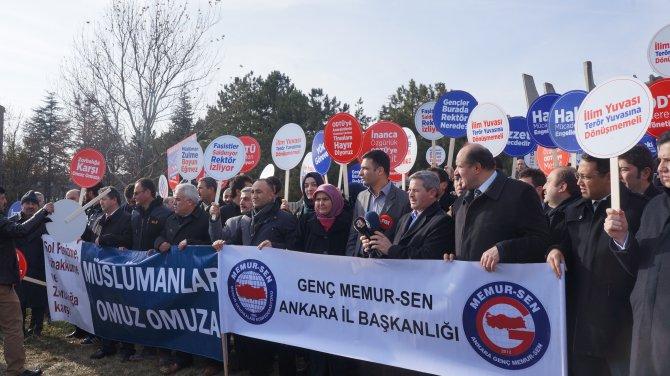 ODTÜ'de namaz kılan öğrencilere yönelik saldırı protesto edildi
