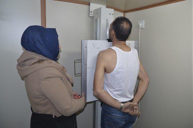 Şantiye İşçileri Sağlık Kontrölünden Geçti