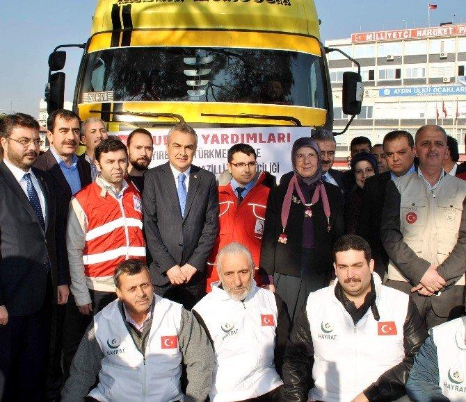 Bakan Ramazanoğlu, Türkmenlere Gönderilen Tır'ları Yolcu Etti