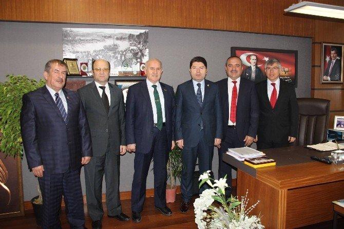 Belediye Başkanları Milletvekili Tunç'u Ziyaret Etti