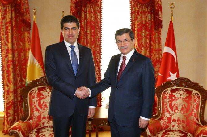Davutoğlu, IKBY Başbakanı Barzani'yi kabul etti