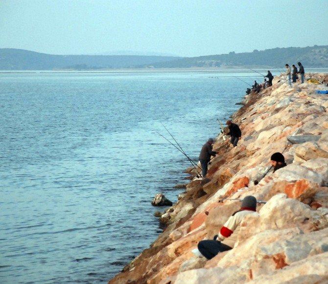Didim'de Balık Tutkunların Merkezi Taşburun Oldu
