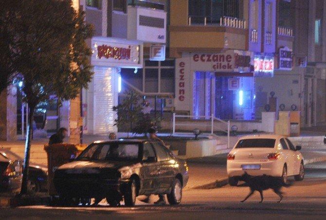 Polis Kovaladığı İran Plakalı Araç Alev Aldı