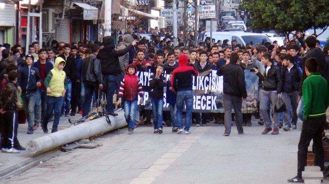 Kızıltepe'de Yürüyüş Yapan Gruba Müdahale