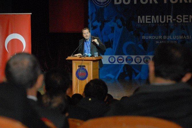 Memur-sen Genel Başkanı Burdurlu Üyeleriyle Buluştu