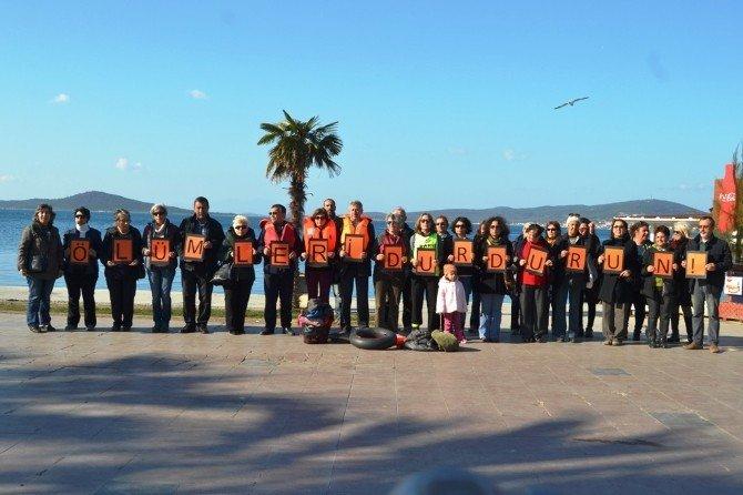 Ayvalık'ta Göçmenler İçin Anlamlı Eylem