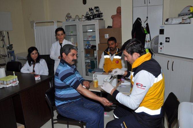 ASKİ çalışanlarına sağlık taraması yapıldı