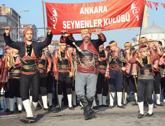 Atatürk'ün karşılandığı Keklikpınarı'nda tören ve koşu düzenlendi