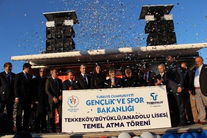 Bakan Kılıç, Büyüklü Anadolu Lisesi'nin Temelini Attı