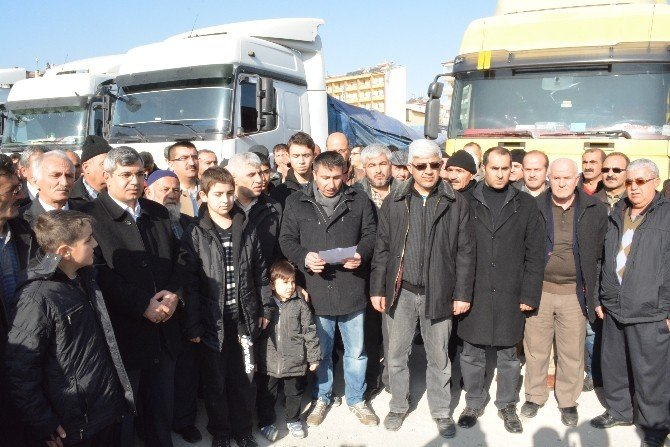 Niğde'den Türkmenlere 20 Tır Yardım Yola Çıktı