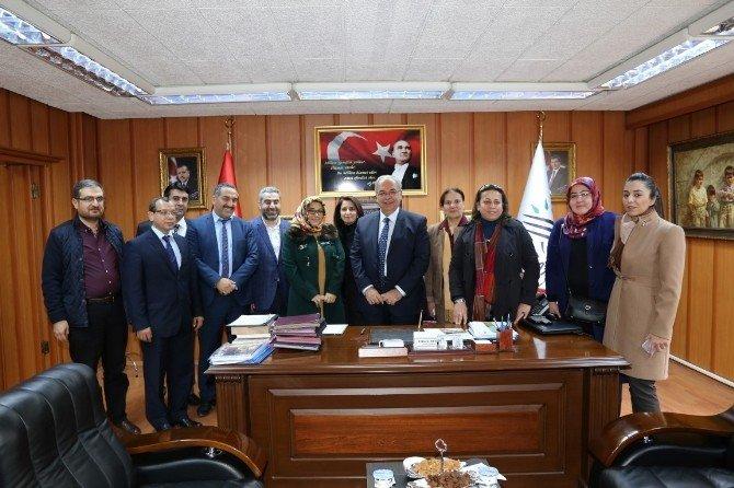 Beyazay Derneği Bölge Şube Başkanlarından Başkan Kutlu'ya Ziyaret