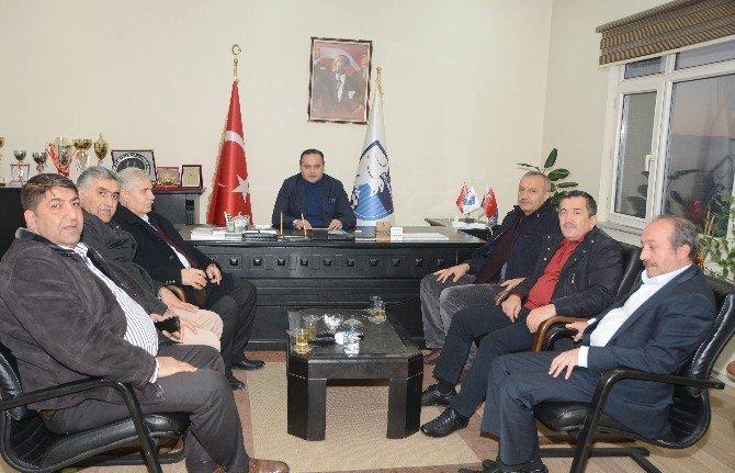Büyükşehir Belediye Yöneticilerinden Bb Erzurumspor Kulüp Başkanı Ali Demirhan'a Hayırlı Olsun Ziyareti