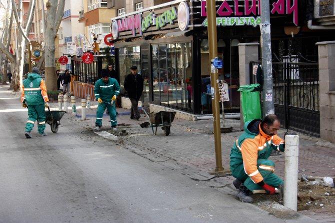 Çankaya'da sokaklar yeniden elden geçiriliyor