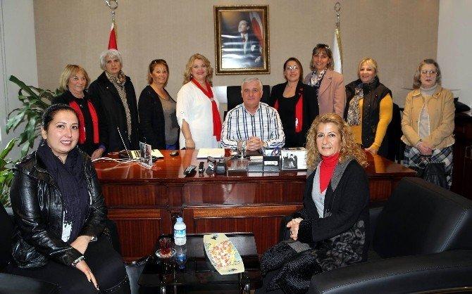 CHP Bodrum Kadın Kolları Başkan Kocadon'a Ziyaret