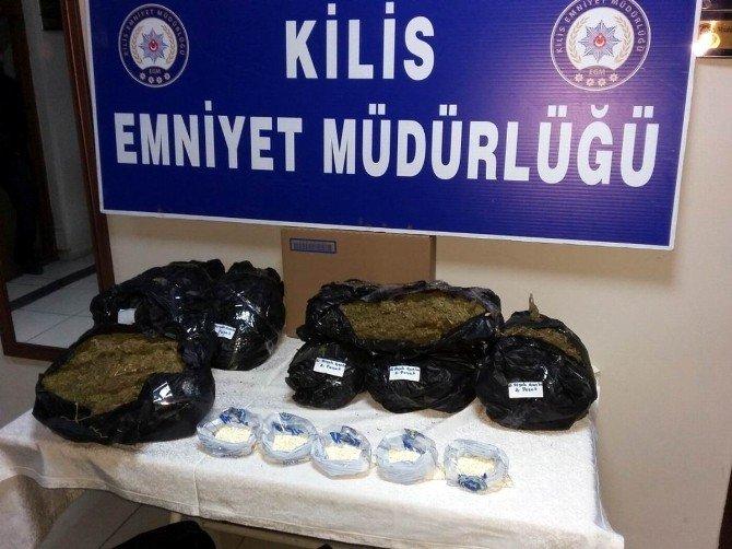 Kilis'te Esrar Ve Uyuşturucu Hap Operasyonu