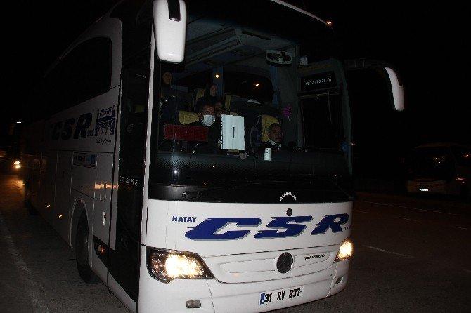 Suriye'de Takas Edilen 338 Şii Lübnan'a Gönderilmek Üzere Hatay Havaalanı'na Getirildi