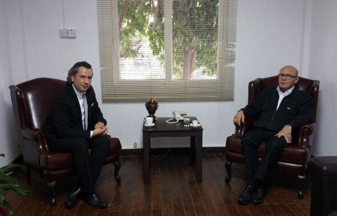 Türkiye Gençlik Ve Spor Konfederasyonundan Mehmet Ali Talat'a Ziyaret