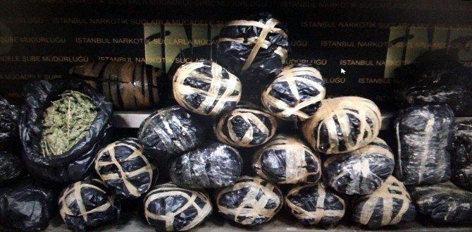 Kolilere Gizlenmiş 82 Kilo Hint Keneviri Ele Geçirildi