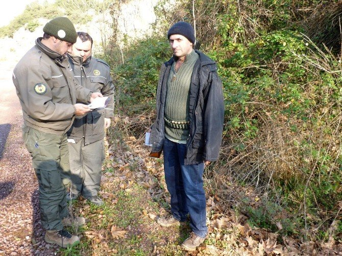 Yalova'da Avcı Denetimleri Devam Ediyor