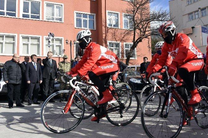 7.sarıkamış Şehitlerini Anma Bisiklet Turu Gümüşhane'de