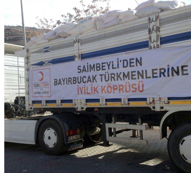 Türkmenler için bir merhamet TIR'ı da Saimbeyli'den yola çıktı