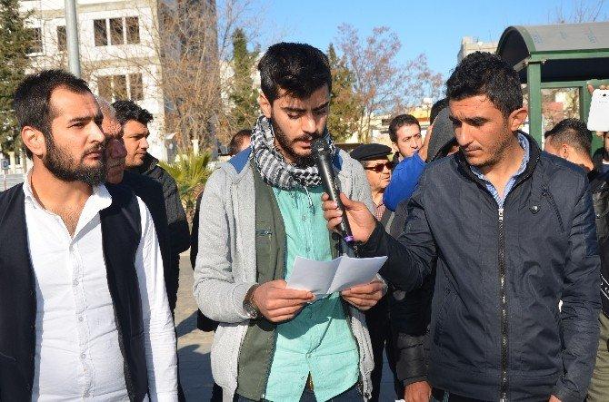 Kahta'da, Roboski Olayı Kahta İlçesinde Protesto Edildi