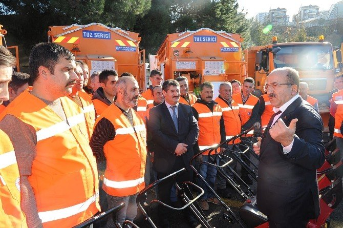 Trabzon Büyükşehir Belediyesi Karla Mücadeleye Hazır