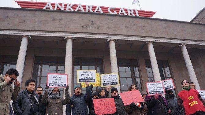 Ankara Garı önünde açlık grevi ve oturma eylemi