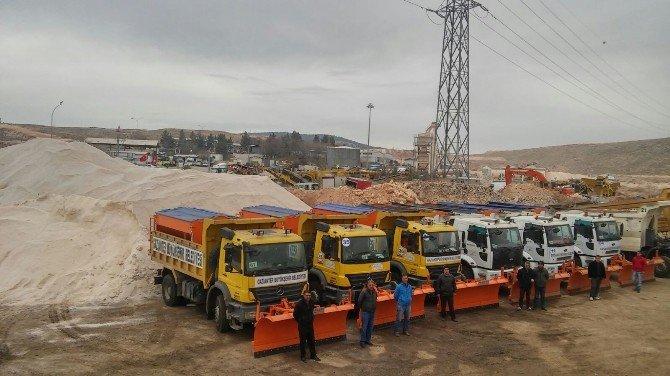 Gaziantep'te Karla Mücadele Ekibi Hazır