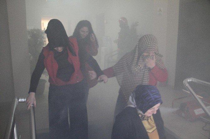 Akyazı Belediyesi Teknik Binada Yangın Tatbikatı Yapıldı