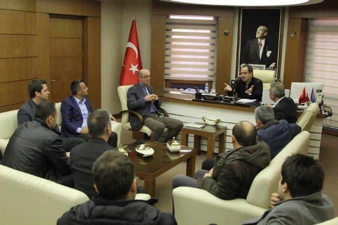 Giresun Belediyesi'nde Kar Toplantısı