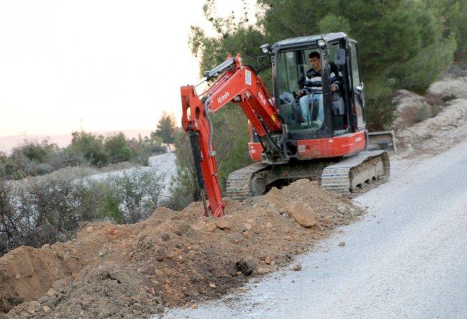 Kılıçtutan Karakolu'nun içme suyu hattı yenilendi