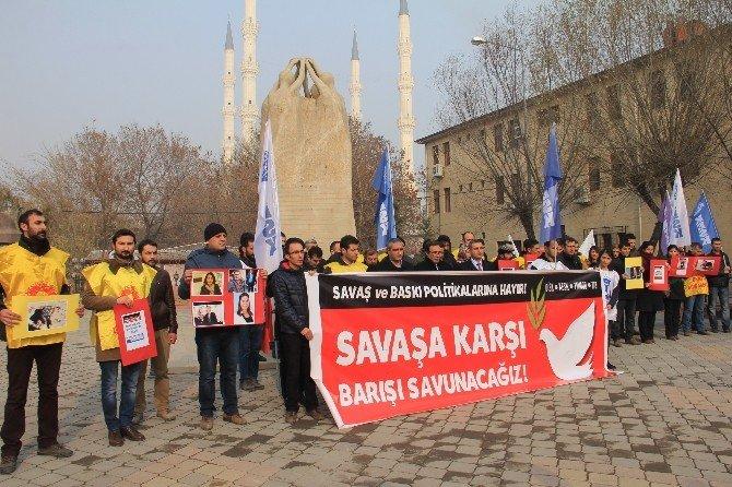 Iğdır'da Sokağa Çıkma Yasağı Protesto Edildi