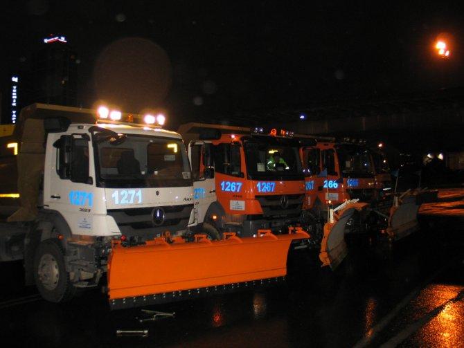 İstanbul'da kar nöbeti başladı