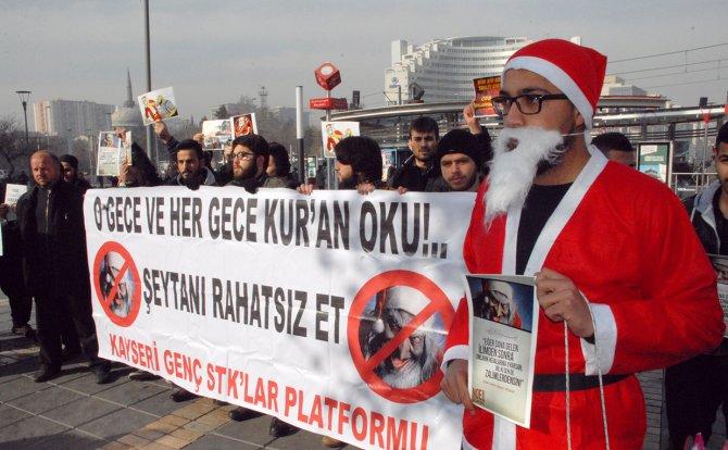 Kayseri'de yeni yıl kutlamasına 'Noel Baba'lı tepki