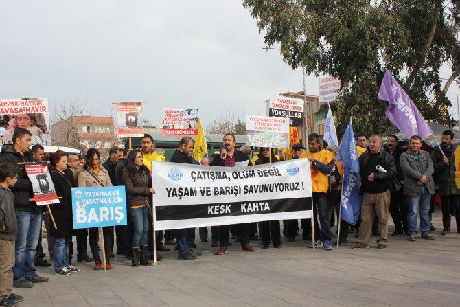 Eğitim-Sen, sokağa çıkma yasaklarını protesto etti