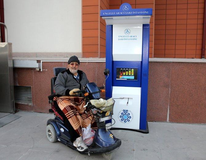 Engelli araçları için şarj istasyonları kuruldu