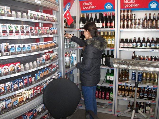 Nevşehir'de kaçak içki denetimi