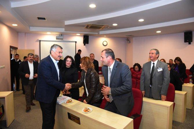 Okul müdürlerinden Başkan Karalar'a teşekkür ziyareti