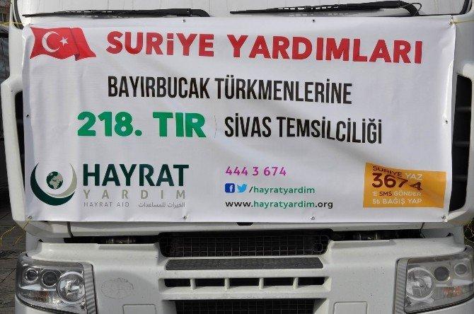 Sivas'tan Bayırbucak Türkmenleri'ne 5 Tır Yardım