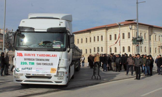 Türkmenlere 5 TIR gıda yardımı