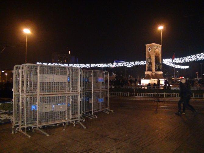 Taksim Meydanı'nda bariyerli önlem